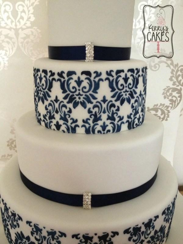 Wedding Damask Cake Delux Stencils 7 Pieces Decorating