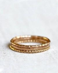 Gold stacking rings 14k gold stacking rings