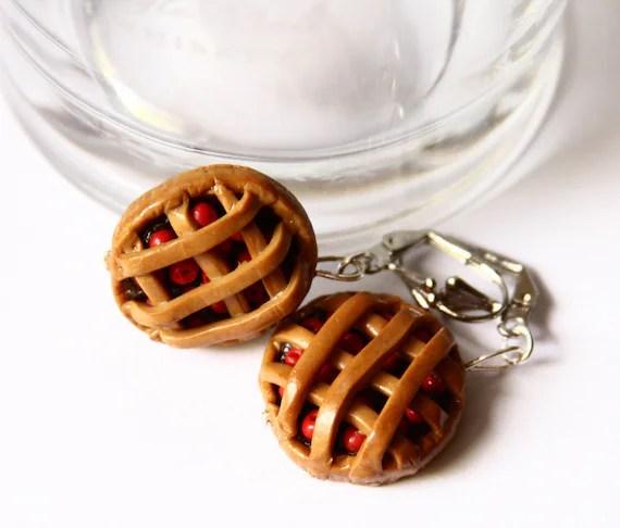 Cherry Chocolate Pie Earrings