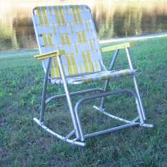 Webbing For Aluminum Folding Chairs How To Make Chair Covers Lawn Rocking By Domesticblissjrc