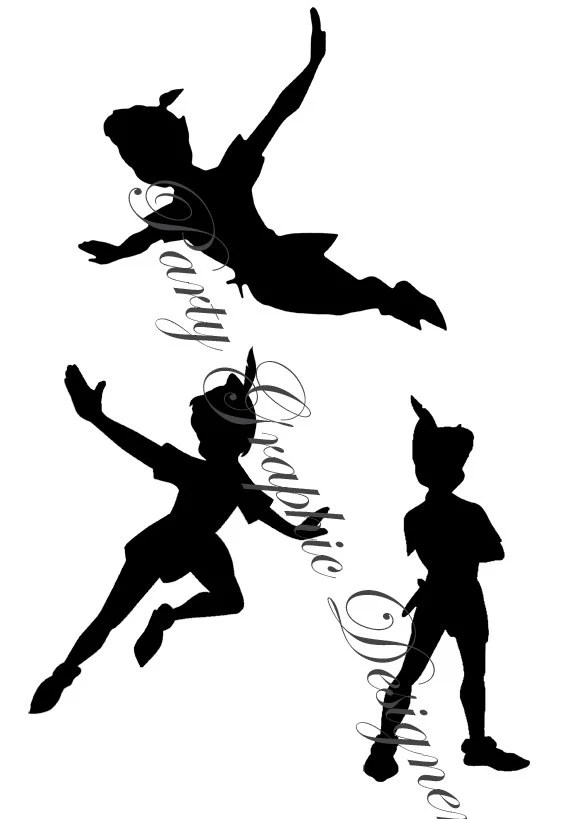 Peter Pan Silhouette by BoutiqueGraphicParty on Etsy