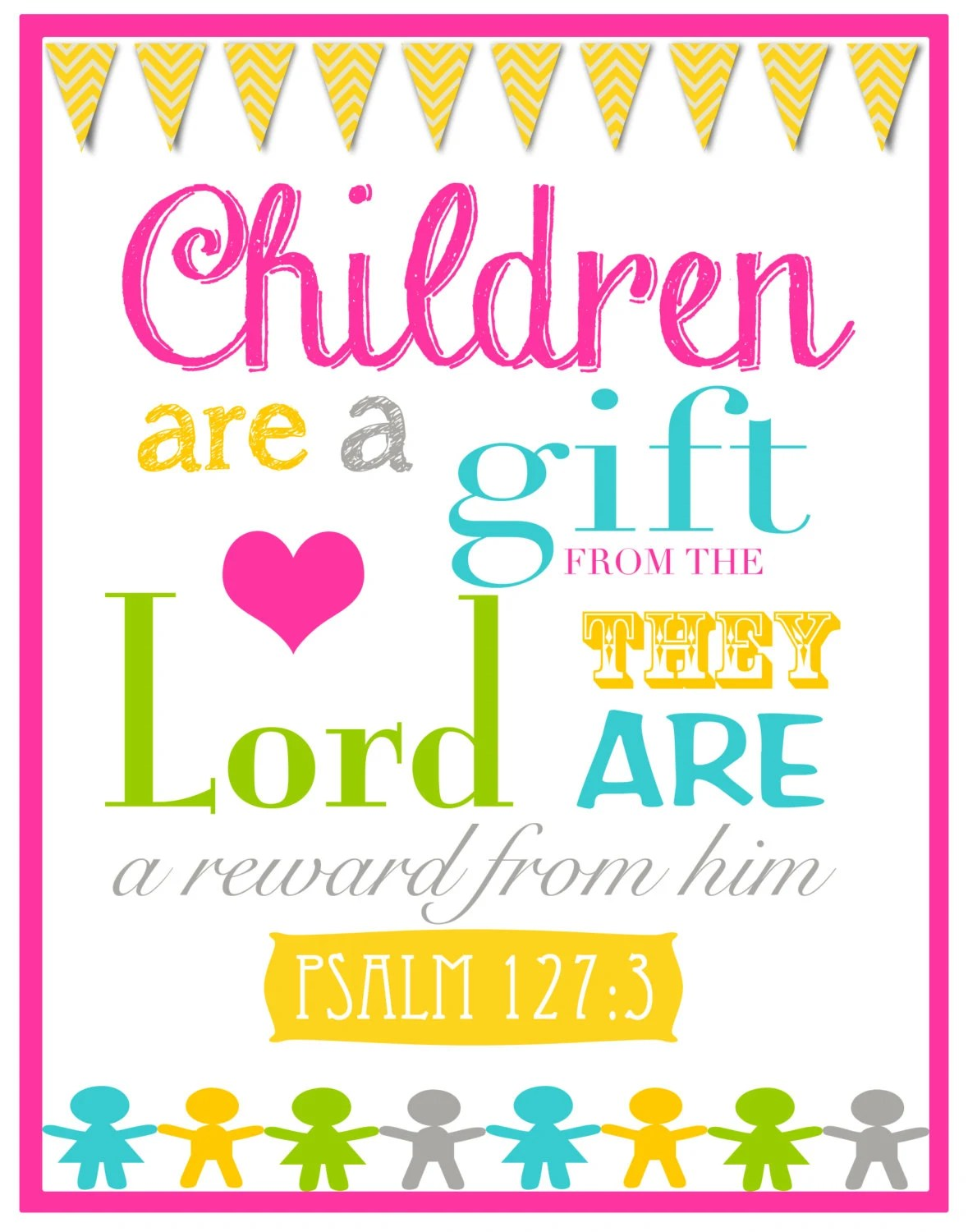 Children Are A T From God Bible Verse Wall Art By