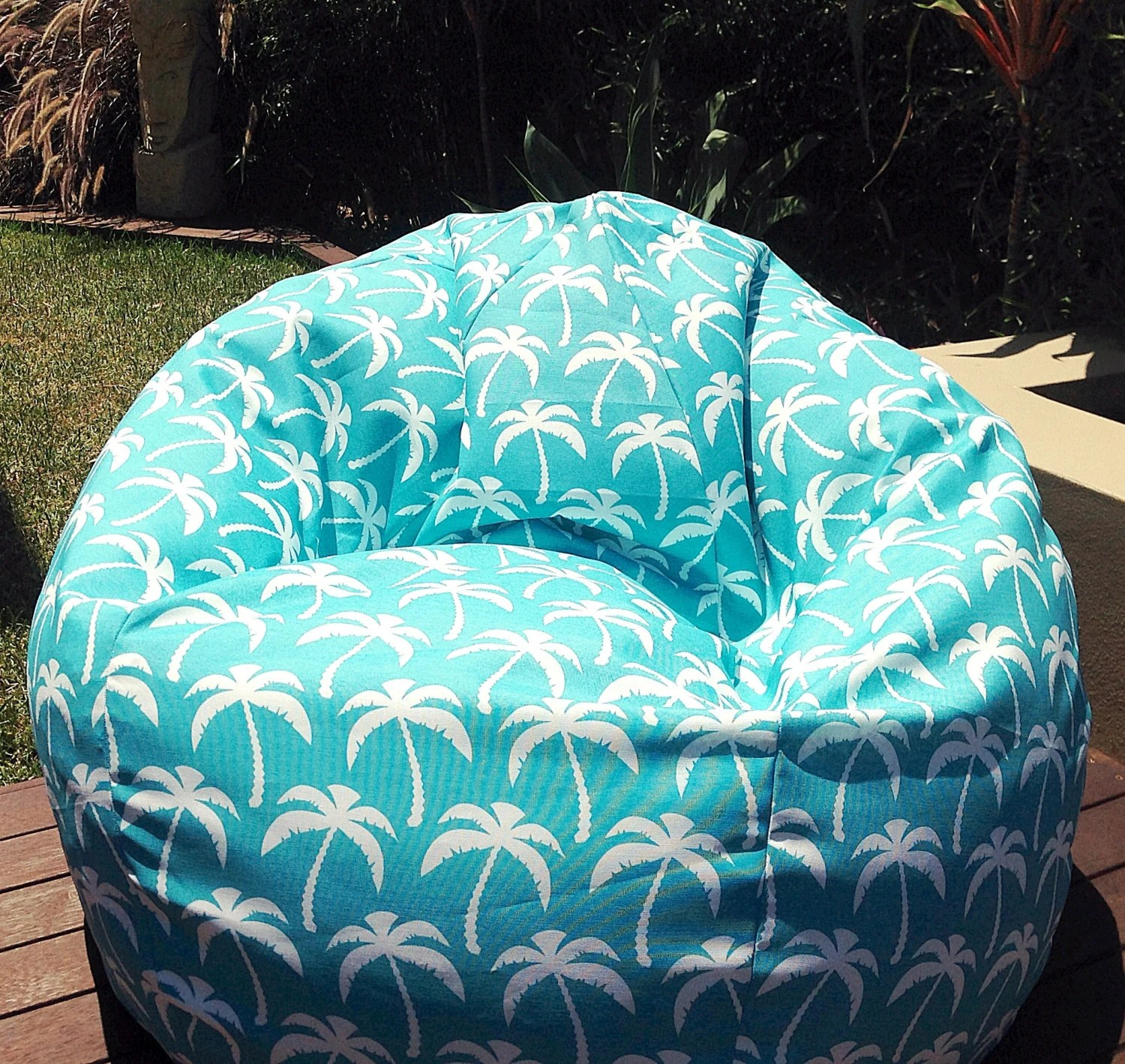 Outdoor Bean Bag Chairs Outdoor Bean Bag Palm Springs Turquoise Cool Funky Retro