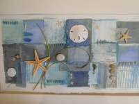 Items similar to Mixed Media Collage/ Beach Themed Wall ...