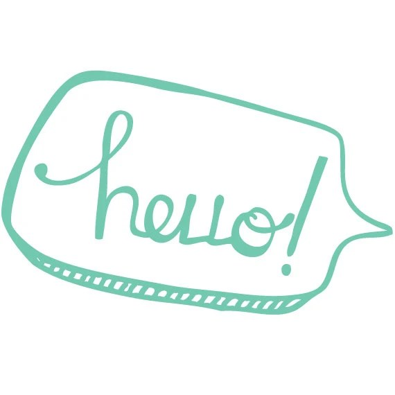 hello print // a happy hello for family and friends // touch of teal - corkboardcreative