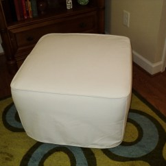Pottery Barn Slipcover Chair And A Half Design Lounge Custom Made For Your Ottoman From Own Fabric
