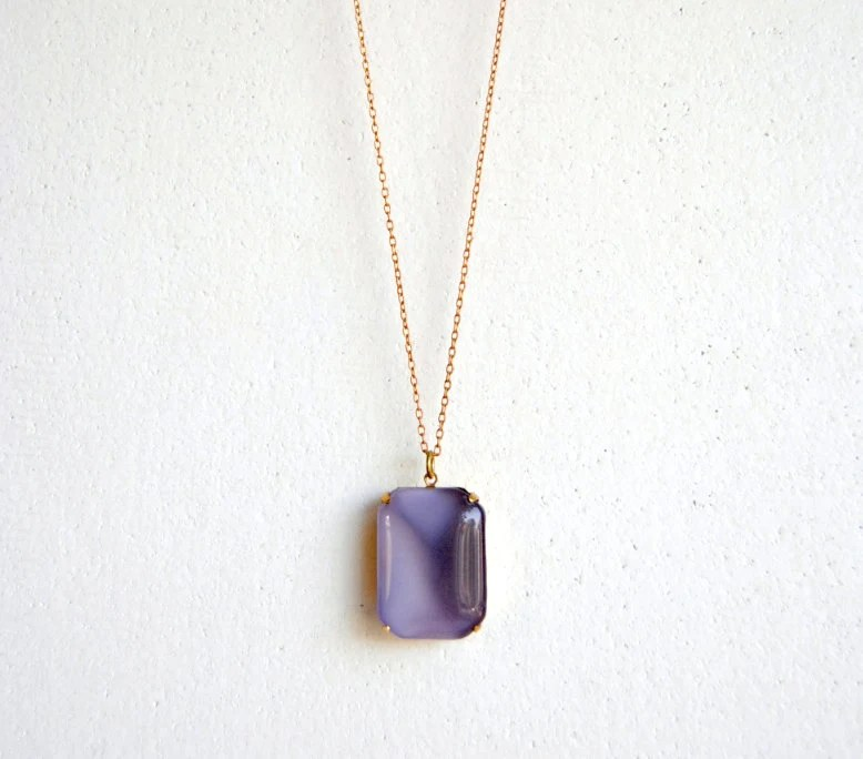 Moody Purple Moonstone Necklace - Handmade Jewelry - Free Shipping in the US - Holiday Jewelry / Christmas Gifts - SPARKLEFARM
