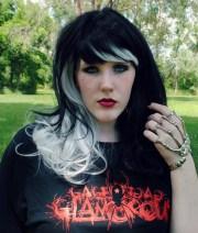 wig . black glamour goth emo