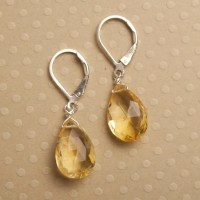 Citrine Earrings November Birthstone Earrings Healing