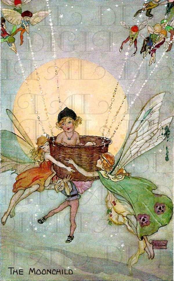 Vintage Illustration Fairies