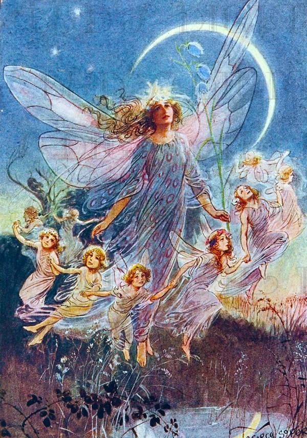 Enchanting Fairy Ring Glorious Vintage Illustration