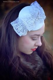 ivory fascinator hat bridal hair