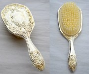 vintage 60s silver vanity hair
