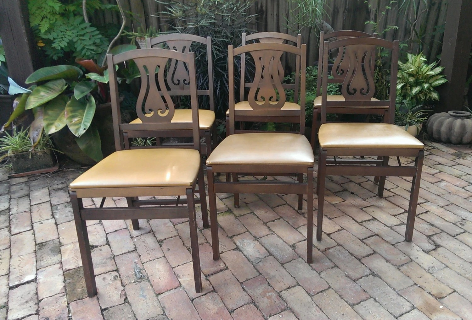 Stakmore Folding Chair Set Of 6 Stakmore Folding Lyre Chairs Free Shipping