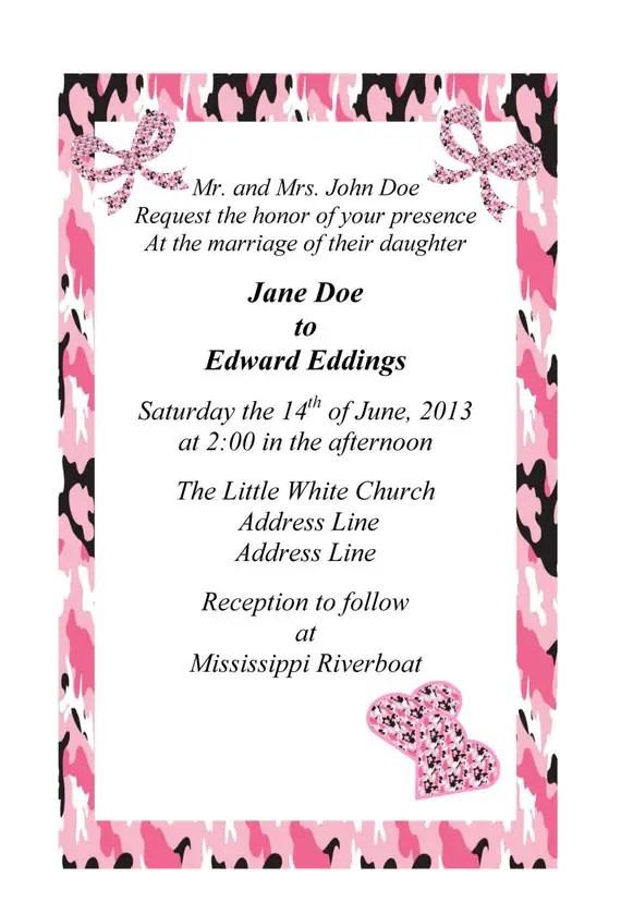 Pink Camo Wedding Ideas
