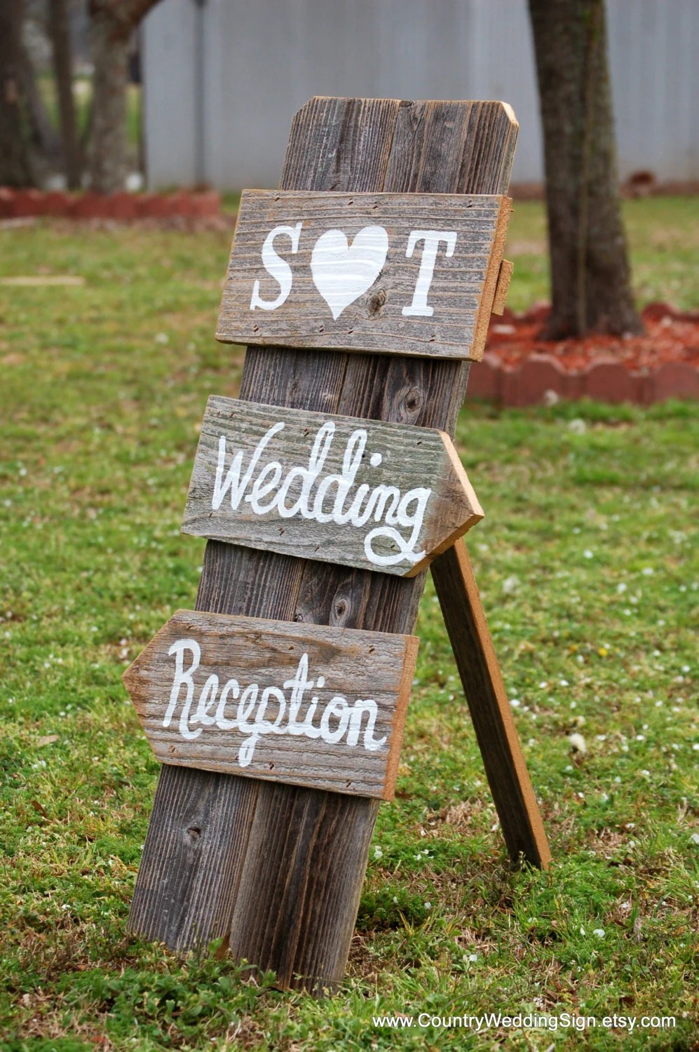 Items similar to Wedding Sign Self Standing Indoor Wedding Reception Signs Rustic Country
