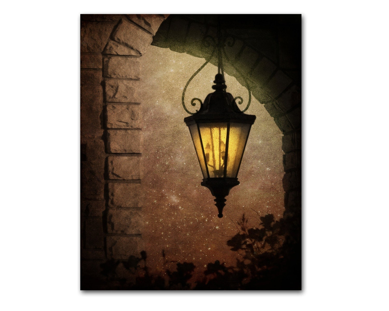 Wrought Iron Lamp Wall Art Tuscan Decor Art By