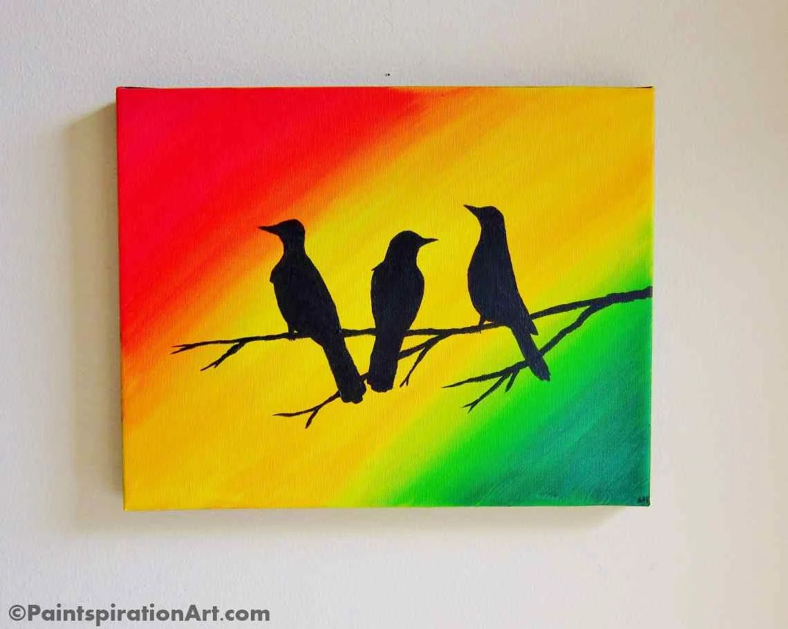 Custom Artwork Bob Marley Three Little Birds Wall Art Original