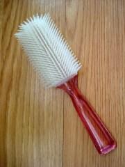 vintage 1980s pink hair brush 2013486