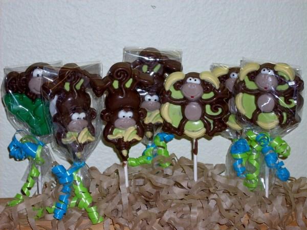 Jungle Monkey Lollipops