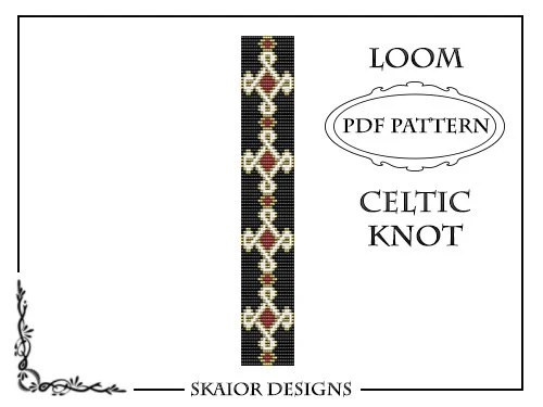 Loom Beading Pattern Celtic Knot Bracelet Cross Seed Beads