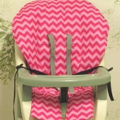 High Chair Pad Graco Childrens Table And Chairs New Zealand Cover Replacement Two Tone Hot Pink