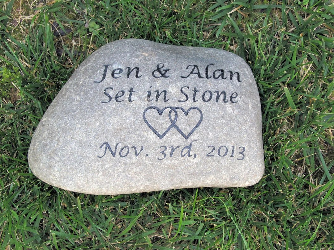 Personalized Irish Celtic Wedding Gift Stone Unique Oathing