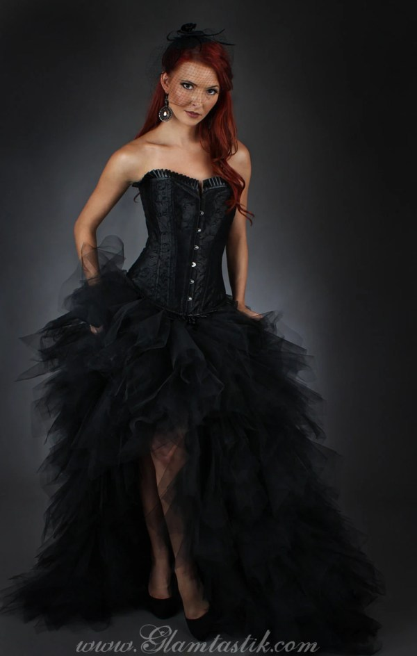 Size Large tulle Burlesque Corset Dress short in the front