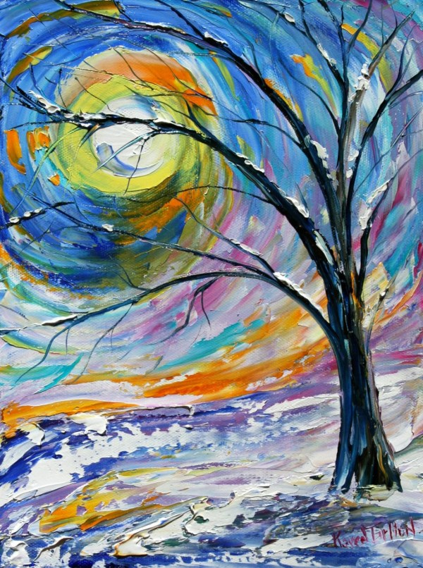 Fine Art Print Oil Painting Snow Karen Tarlton