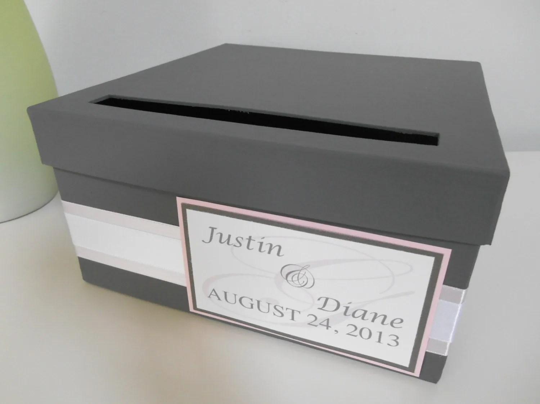 Modern Wedding Card Box Bridal Shower Card Box Reception Card