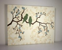 Cottage Chic Wall Decor Shabby Bird Painting by loriamckee ...