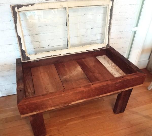 Handmade Rustic Antique Window Shadow Box Coffee