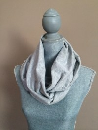 Infinity Scarf with Hidden Pocket Heather by WrappedCreations