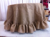 Custom Made 108 inches Round Burlap Tablecloth by ...