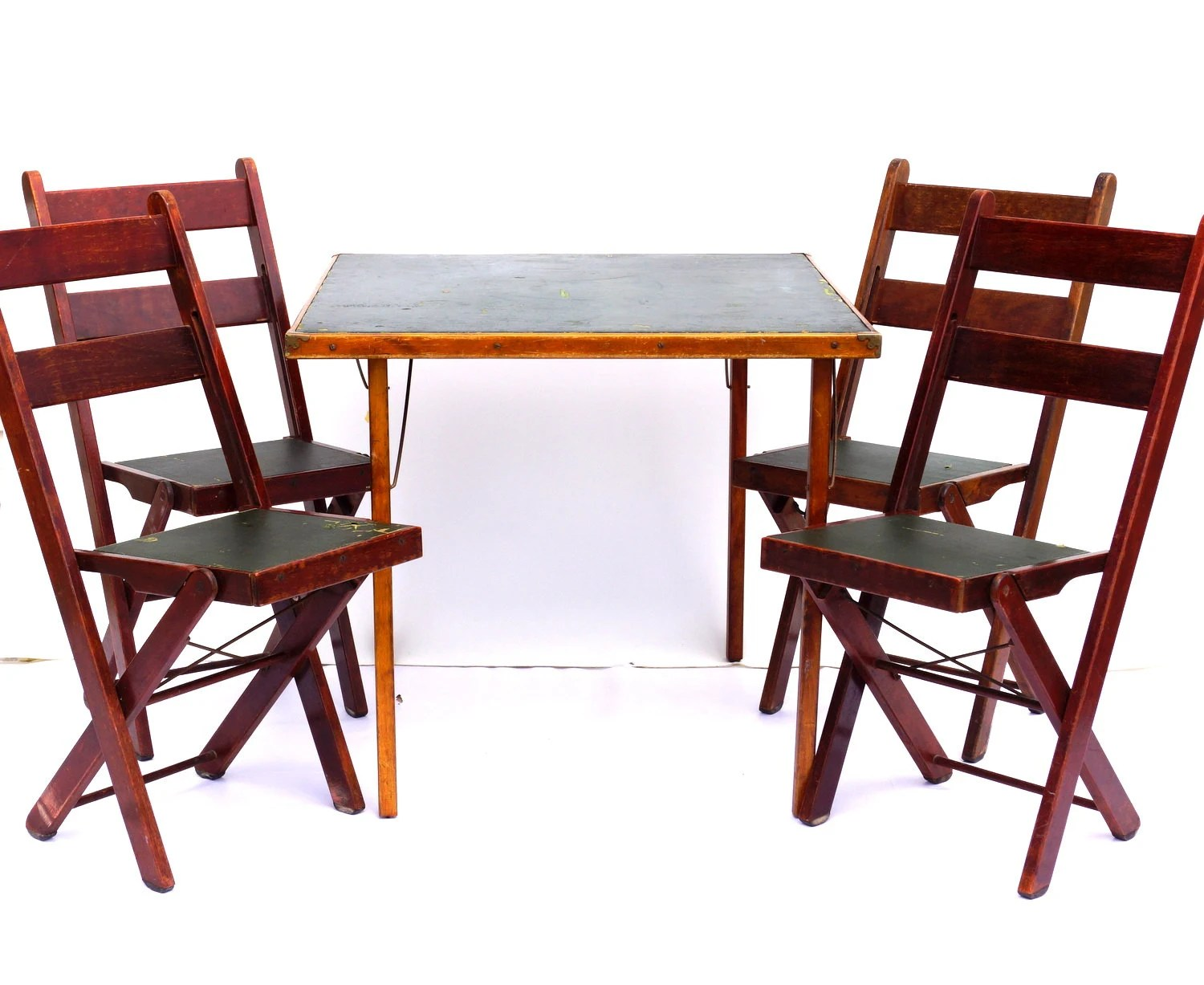 wood folding table and chairs wedding tables images vintage antique with green