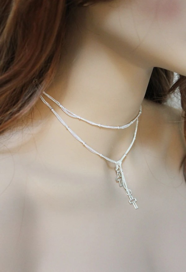 Silver Choker Necklaces Women
