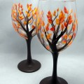 Designs wine glass painting on canvas wine glass painting designs
