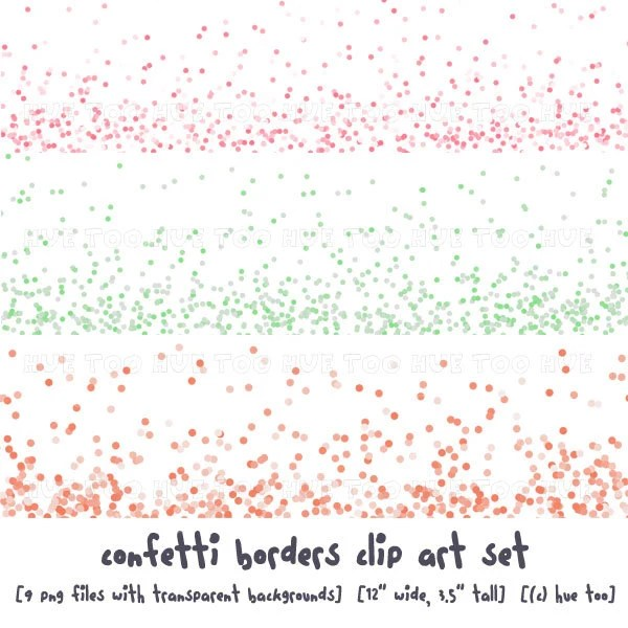 pastel confetti clip art graphics