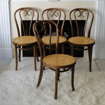 Vintage Chair Cane Cafe Thonet Bentwood Mid Century Hand Caned