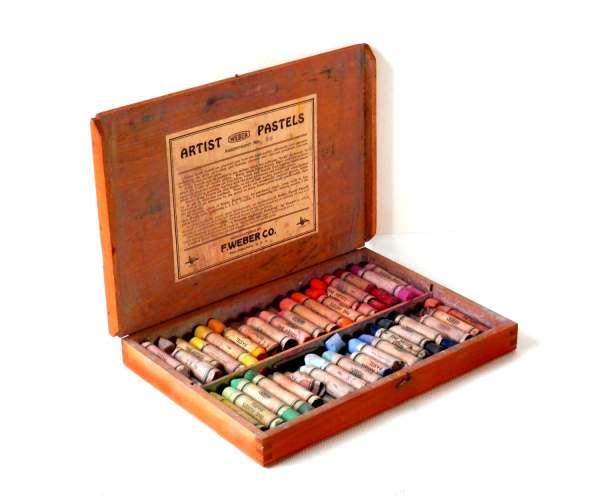 Vintage Antique Art Supply Boxes