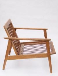 vtg Mid Century MODERN teak sofa eames era Lounge arm ...