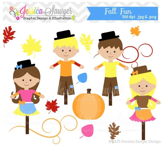 instant fall fun clipart