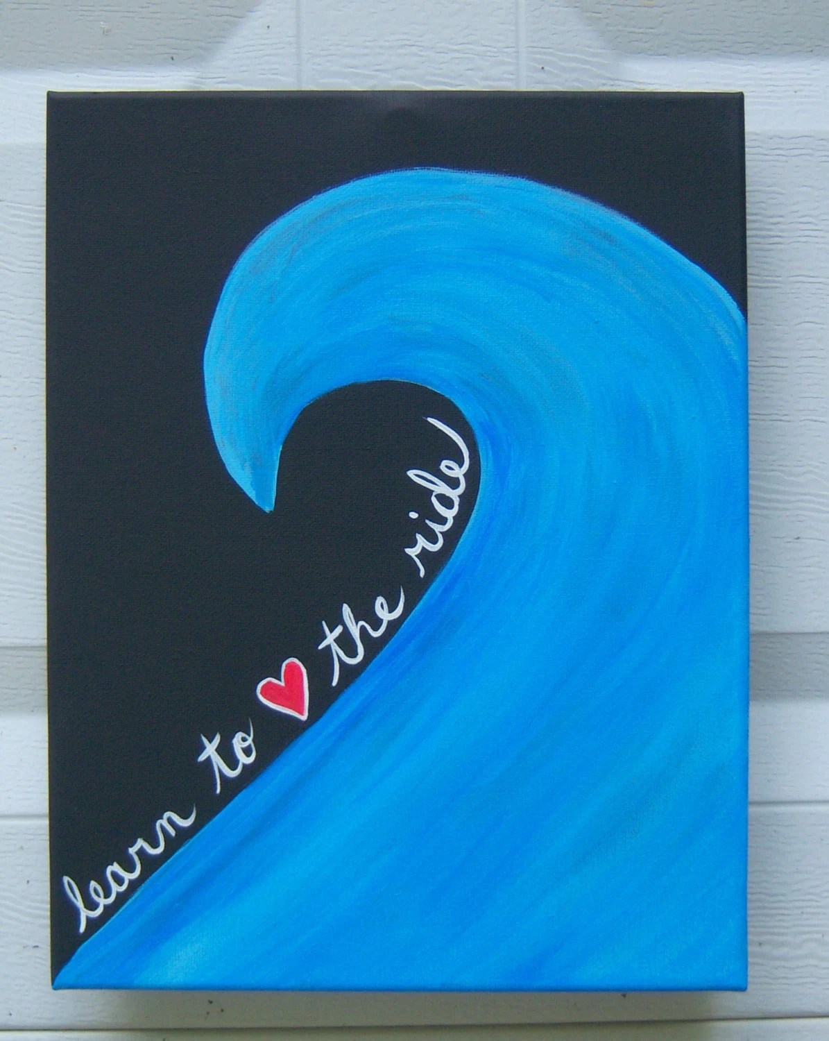 Canvas Painting Learn To Love The Ride