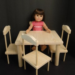 18 Doll Table And Chairs Wheelchair Jump Chair Set For Inch Dolls 0114