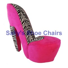 High Heel Shoe Furniture Chair Resin Lounge Chairs Pink And Zebra By Highheelshoechaircom