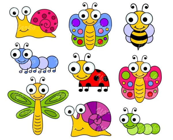 cute bugs clip art insects clipart