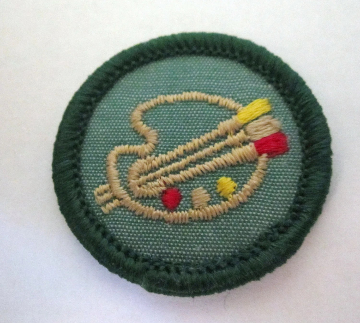 Vintage Junior Girl Scout Badgedrawing And By