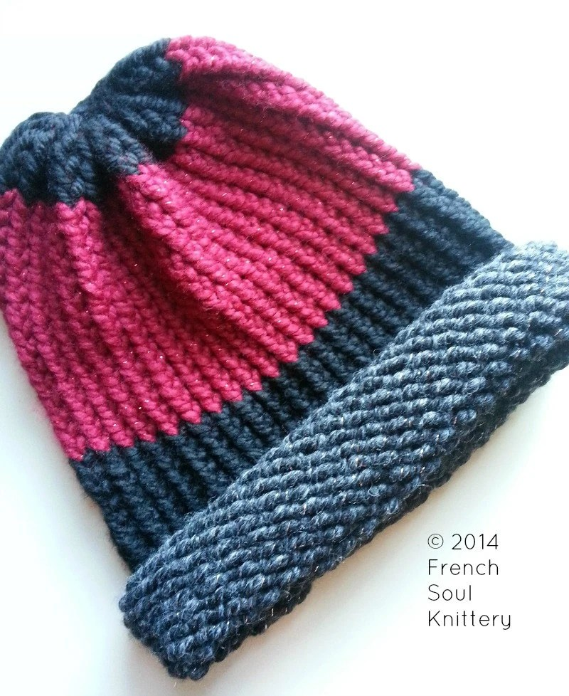 Multicolor Wool-Blend Chunky Knit Slouchy Beanie