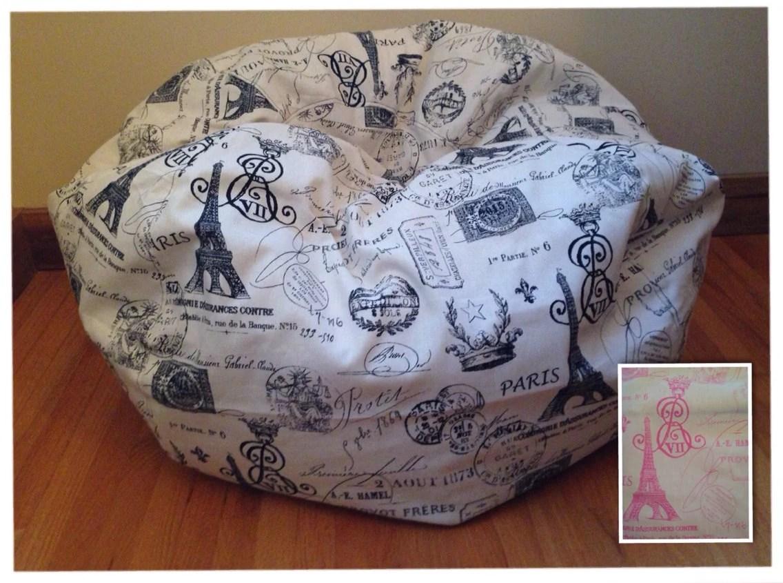 Bean Bag Chair Cover PARIS Readers Nest Bean Bag Chair