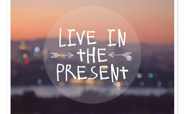 Live In The Present Typography Print Abstract Photography